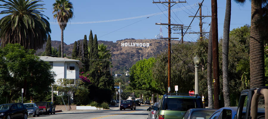 Hollywood Sign from Beachwood Drive